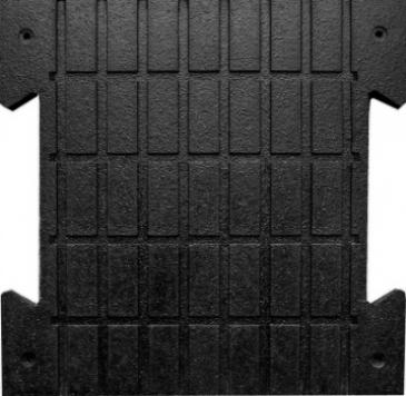 Мат резиновый 500х500  (крепление ласточкин хвост)